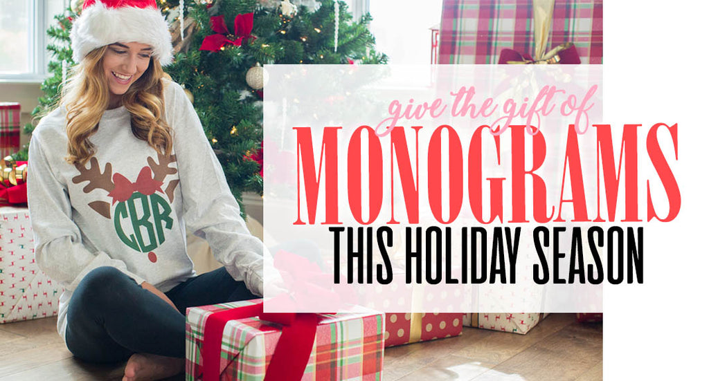 Christmas Themed Monogrammed Collection- Holiday Monograms