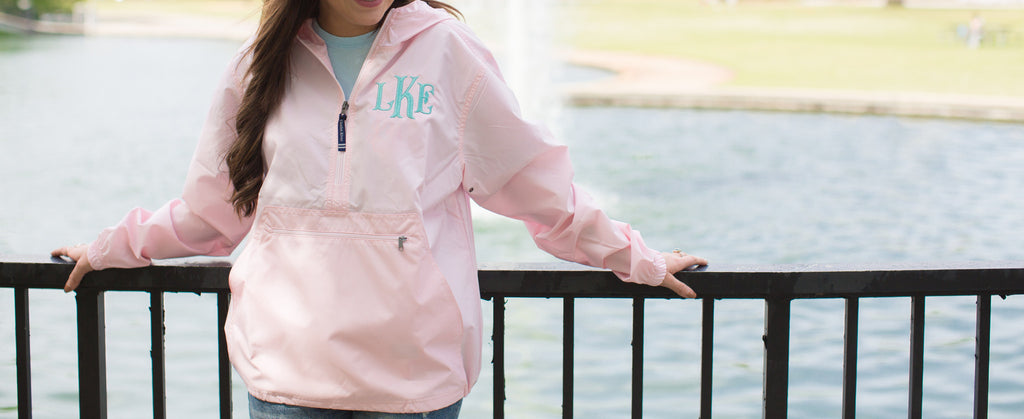 United Monograms Charles River Rain Jacket SALE