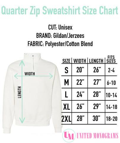 Monogrammed Quarter Zip Sweatshirt Best
