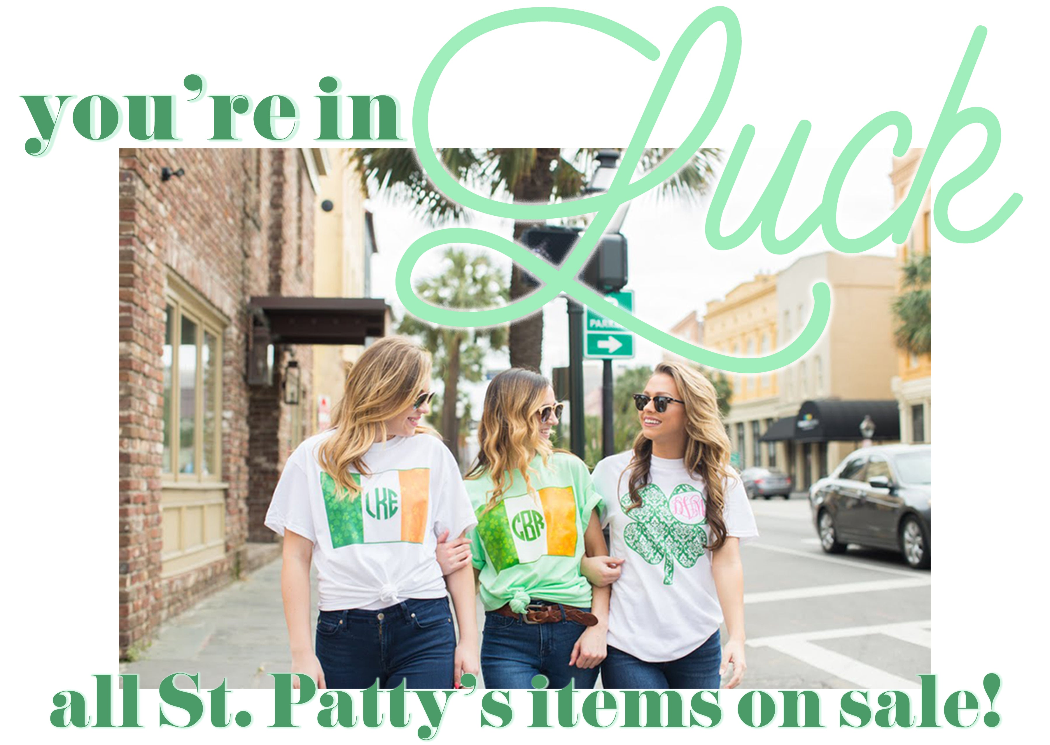 St Patricks Day Monogram Sale Deals $9.99