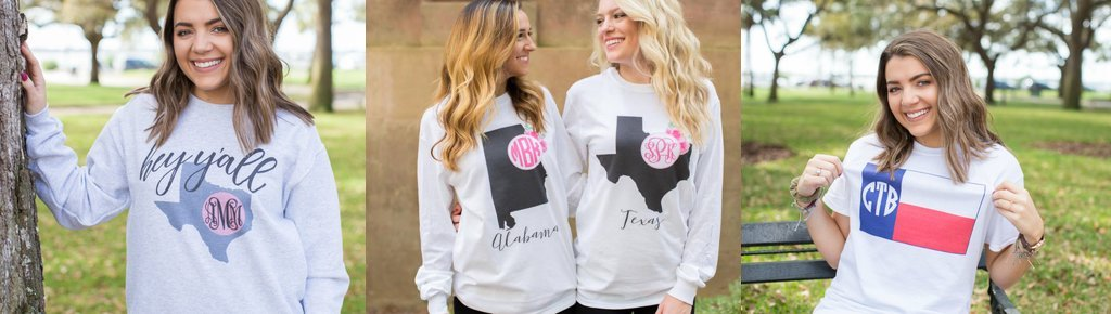 State Pride Clothing with Monogram