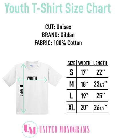 Youth Monogram T-Shirt Size Chart