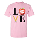 Monogrammed Teacher LOVE T-Shirt