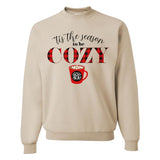 Monogrammed Tis The Season To Be Cozy Sweatshirt