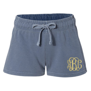 Monogrammed Comfort Colors Shorts