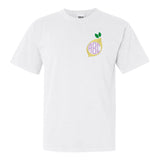 Lemon Embroidery Monogram on Comfort Colors T