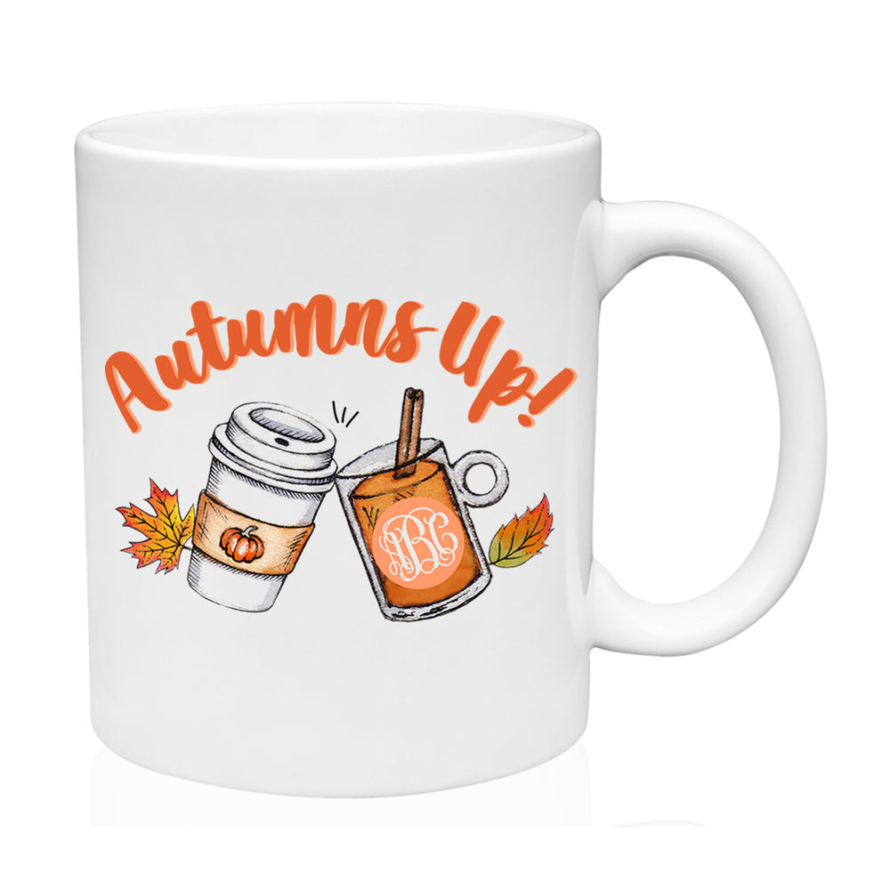 Monogrammed 'Autumns Up' Mug