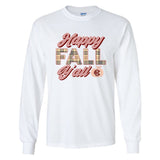 Monogrammed 'Happy Fall Y'all' Long Sleeve T-Shirt