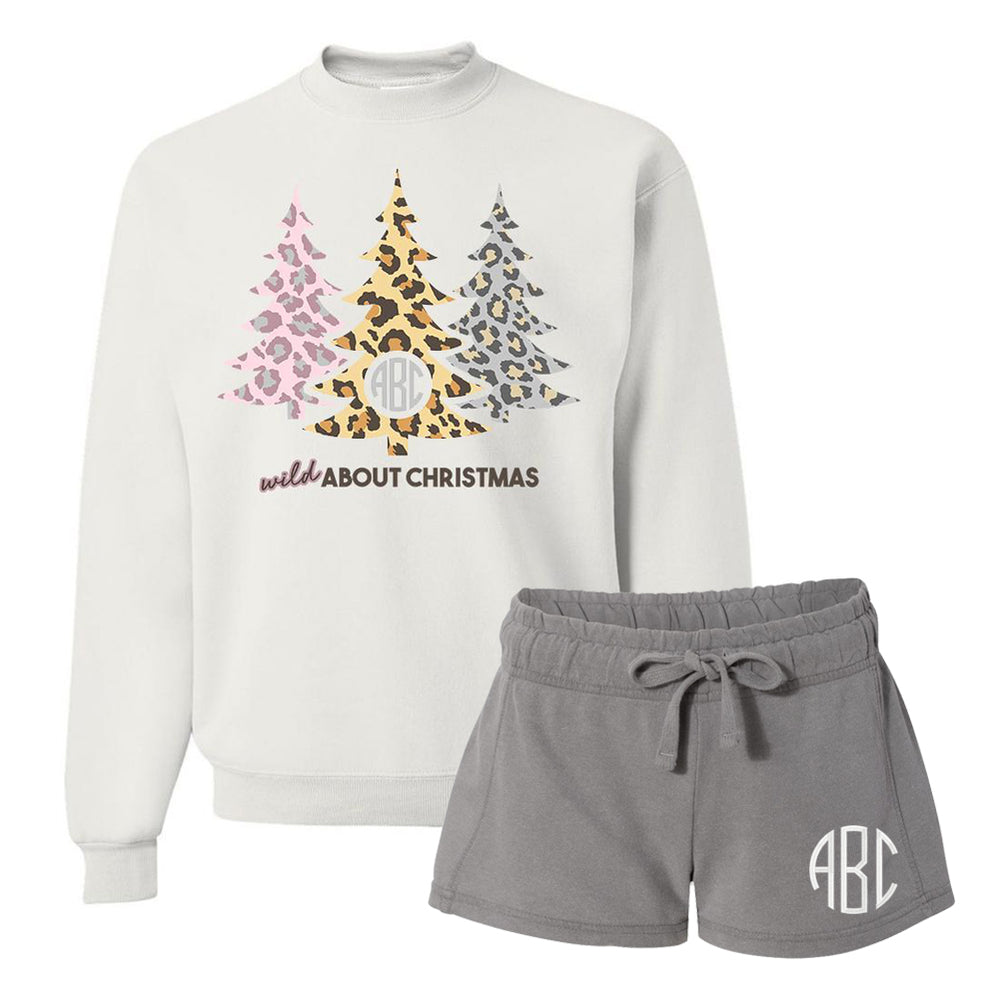 Monogrammed Wild About Christmas Lounge Set