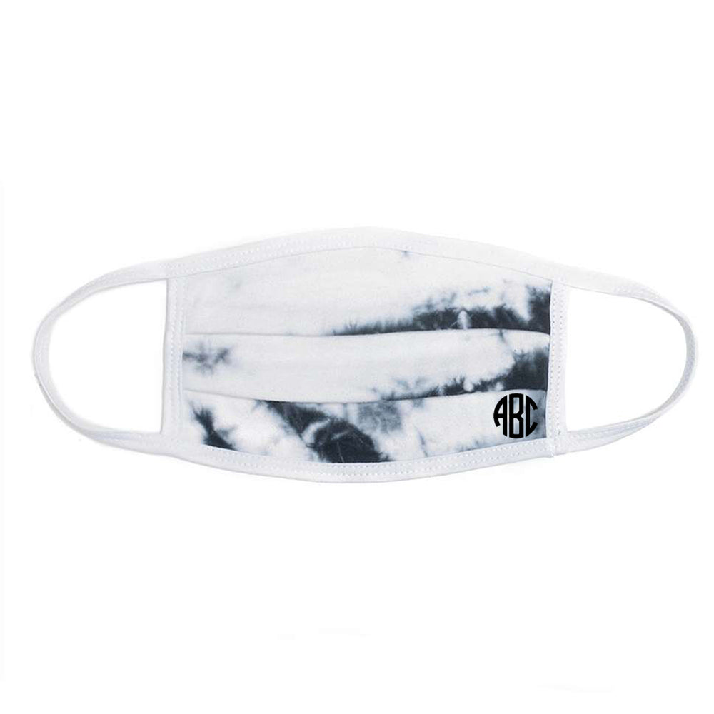 Monogrammed Tie Dye Face Mask Crystal Wash