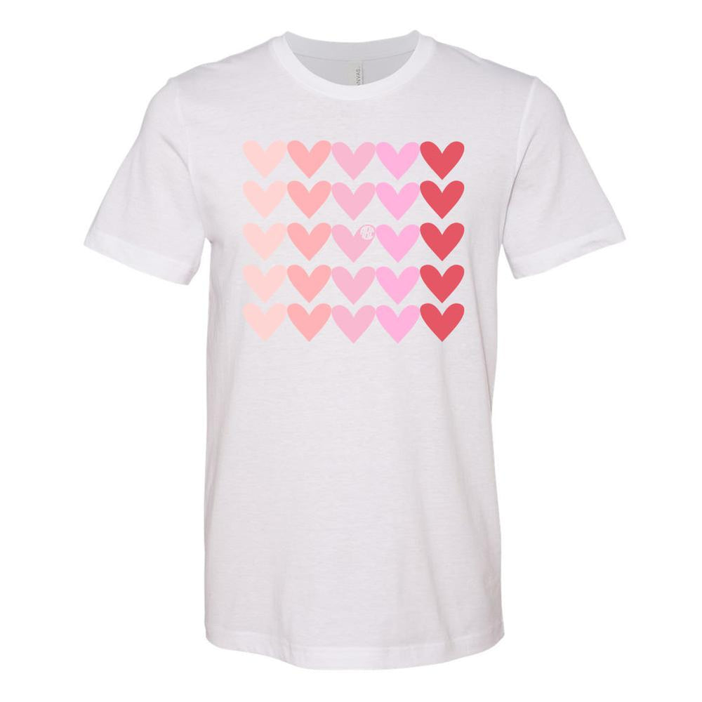 Monogrammed Hearts Lots of Love Valentine's Day Tee