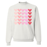 Monogrammed Hearts Lots of Love Valentine's Day Sweatshirt