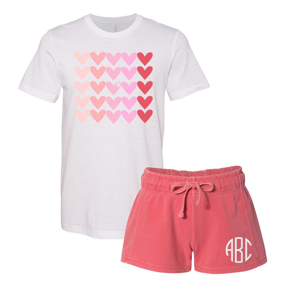 Monogrammed Hearts Lots of Love Valentine's Day Lounge Set