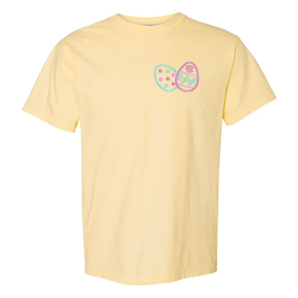 Monogrammed Embroidered Easter Eggs T-Shirt