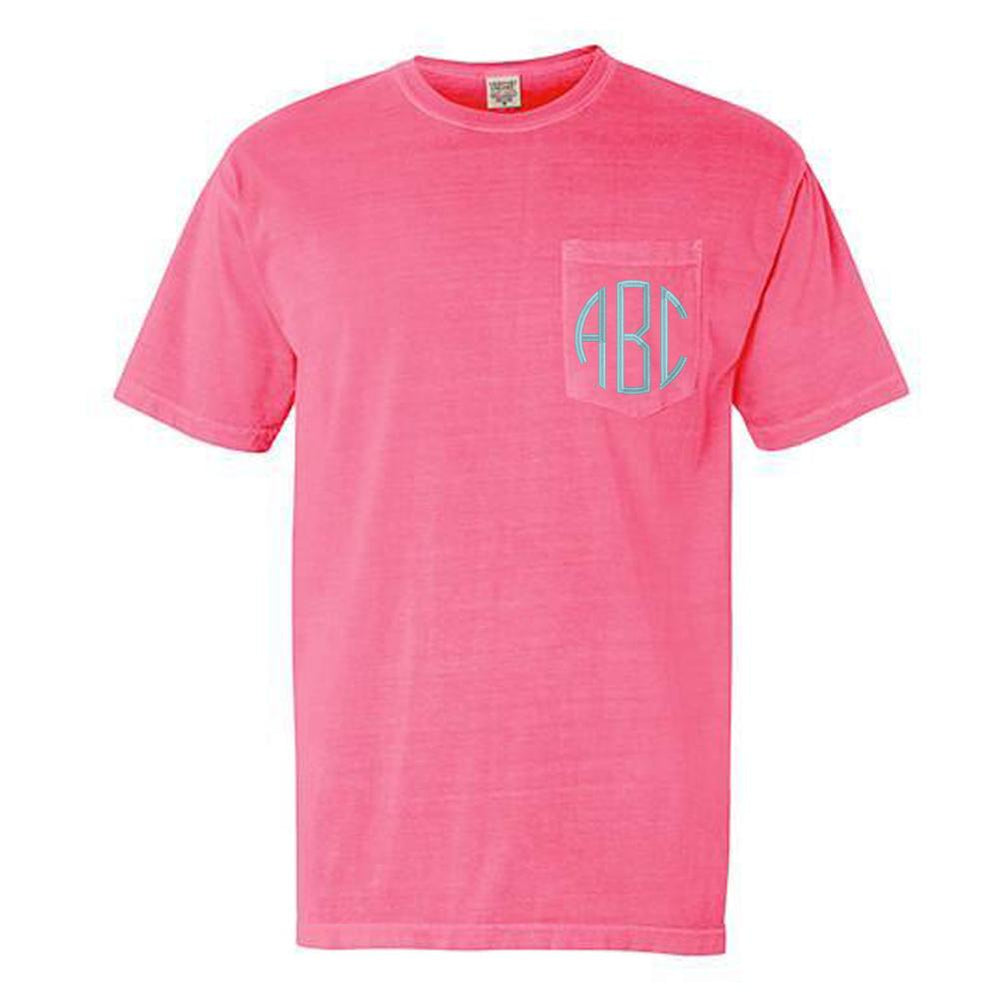 Monogrammed Comfort Colors Pocket Tee