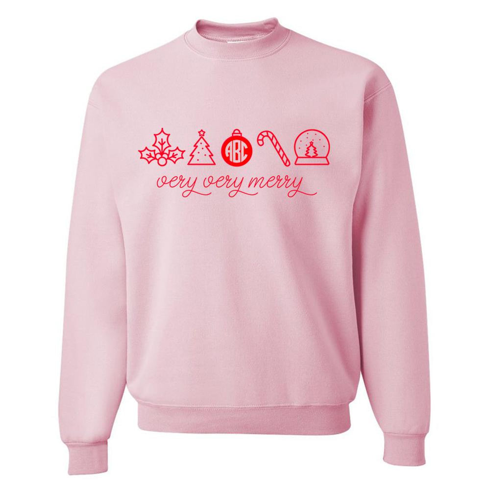 Monogrammed Christmas Very Very Merry Sweatshirt