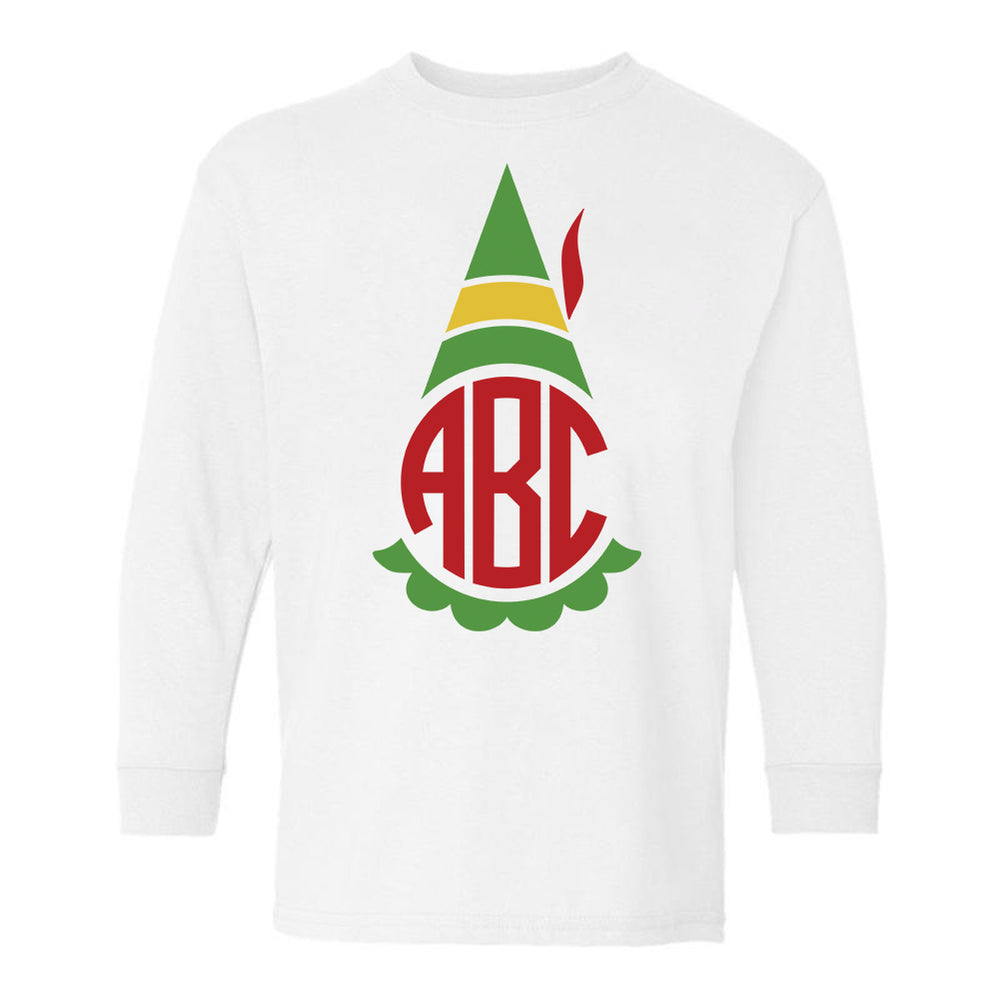Monogrammed Kids Toddler Elf Shirt
