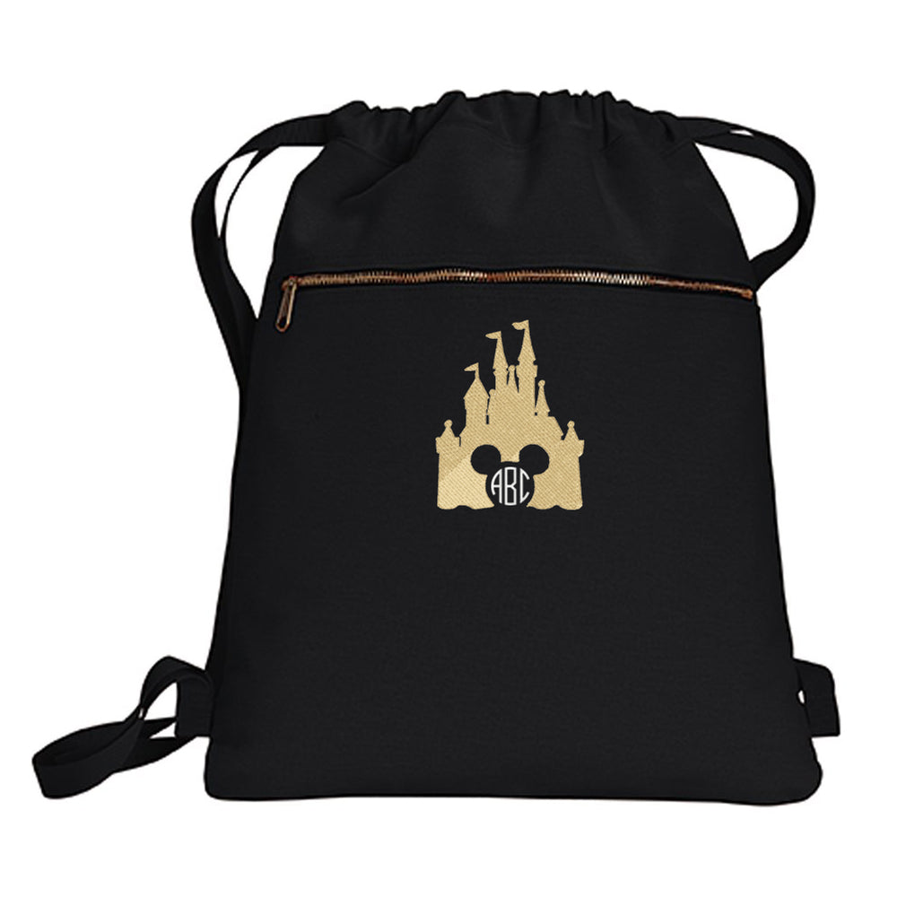 Monogrammed Disney Castle Mickey Backpack Bag