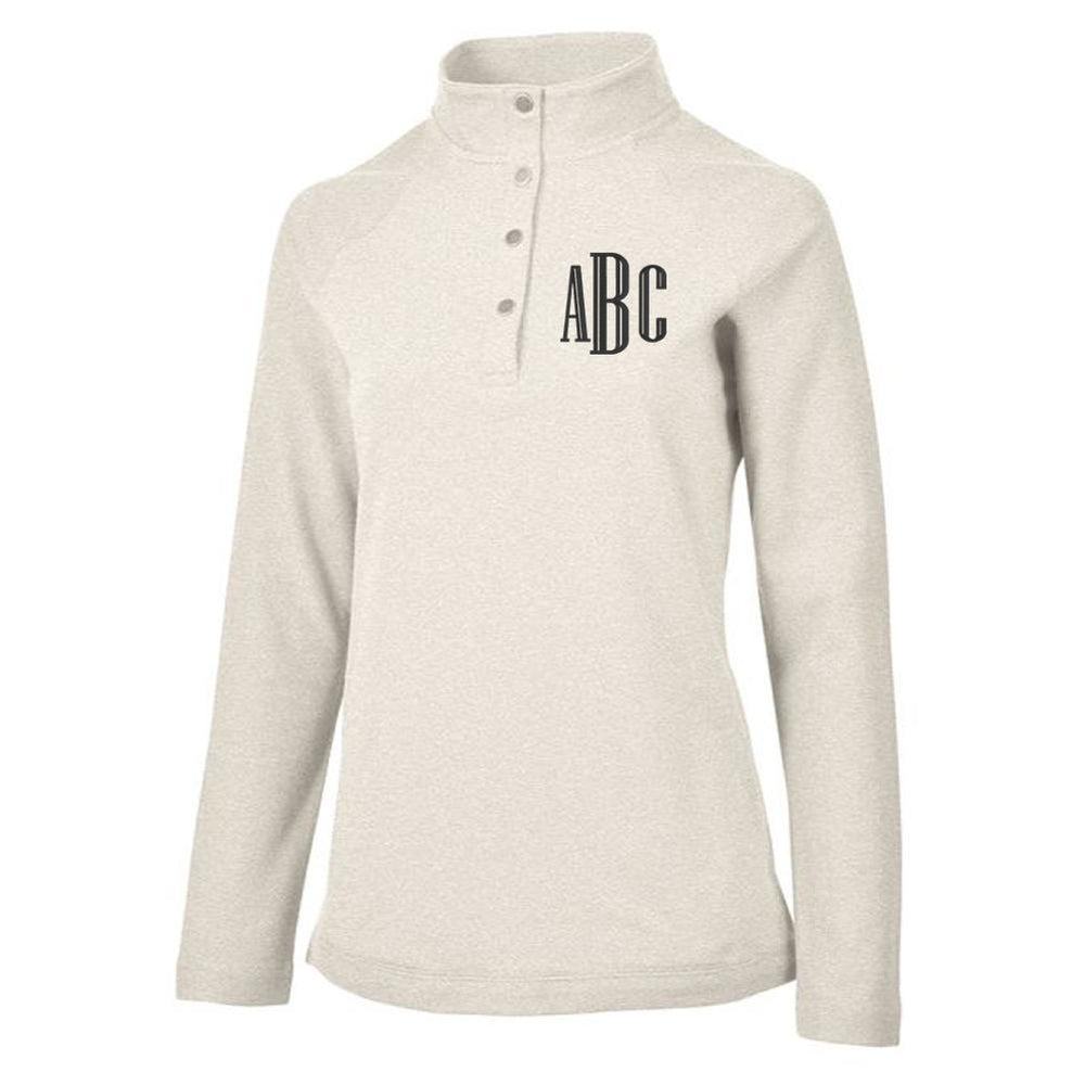 Ivory Pullover Sweater with Monogram