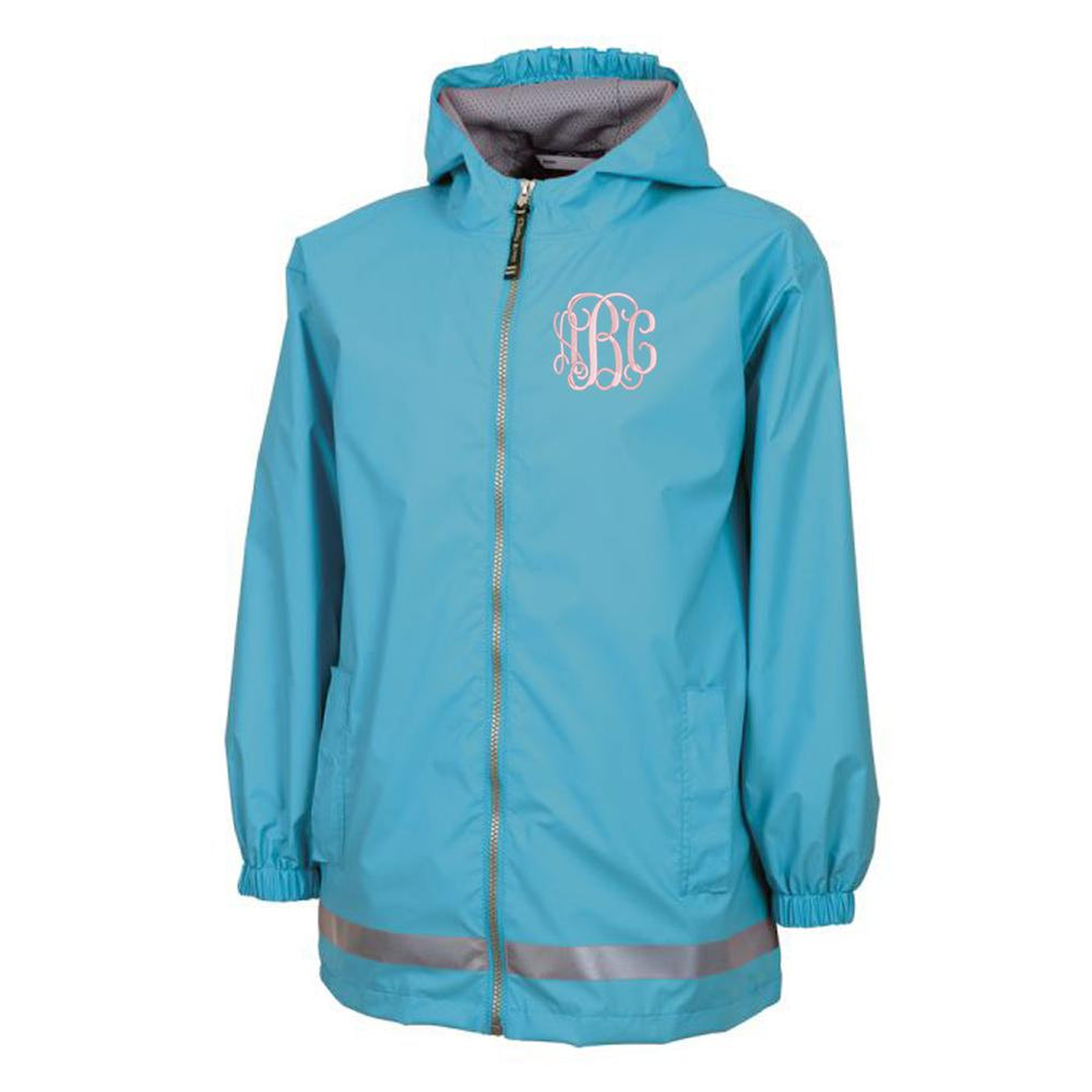 Monogrammed Kids Rain Jacket Youth Sizes