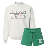Monogrammed Coffee Lover Lounge Set