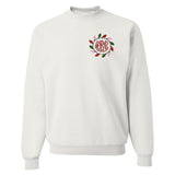 Monogrammed Christmas Lights Crewneck Sweatshirt