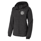 Monogrammed Heather Windbreaker Jacket
