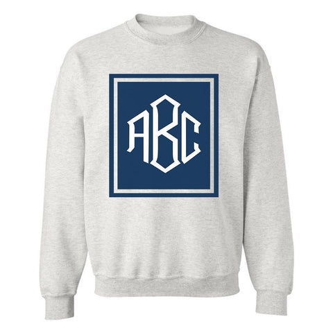 Monogrammed 'Rectangular Diamond' Crewneck Sweatshirt