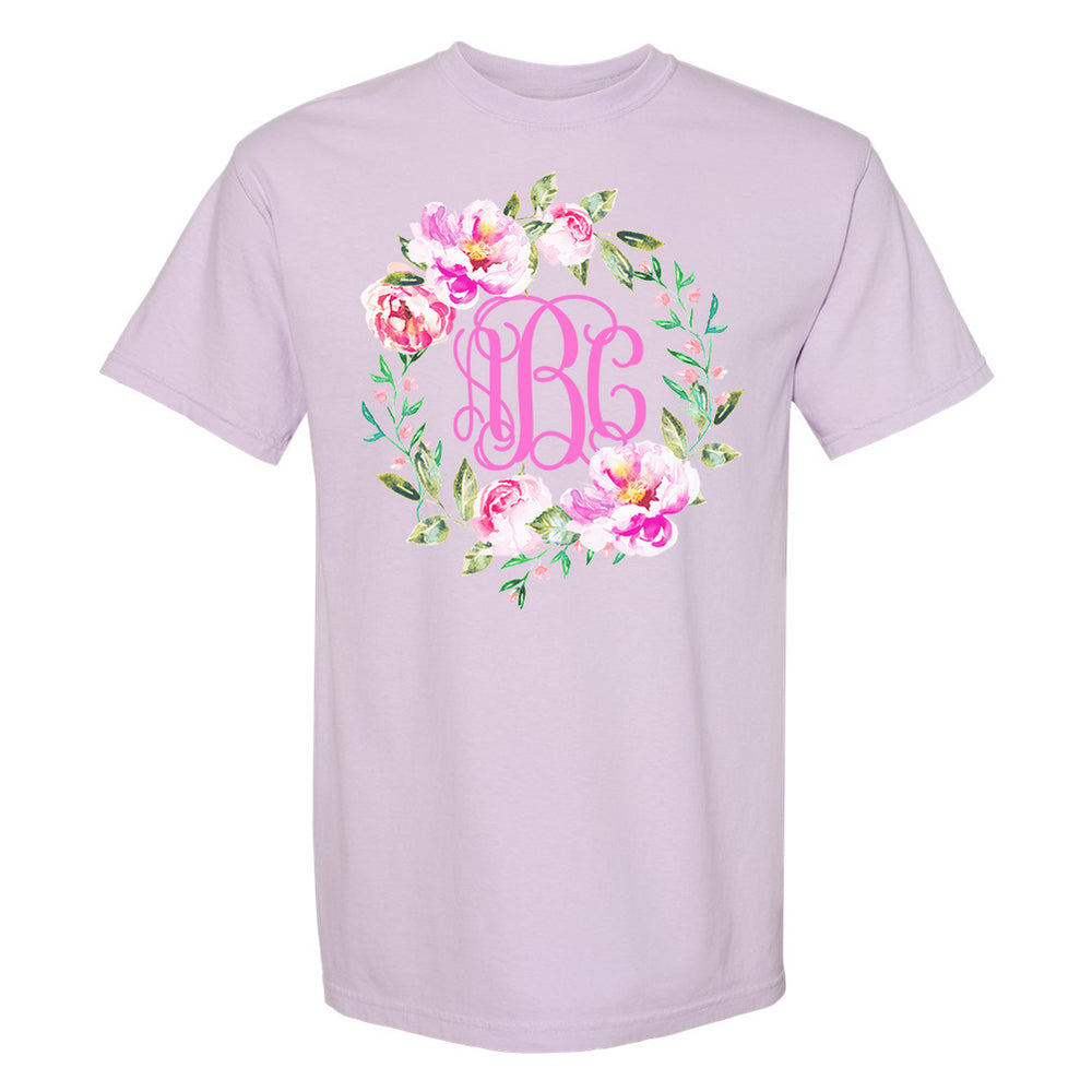 Monogrammed 'Spring Flowers' T-Shirt