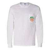 Monogrammed Pumpkin Long Sleeve Pocket T-Shirt