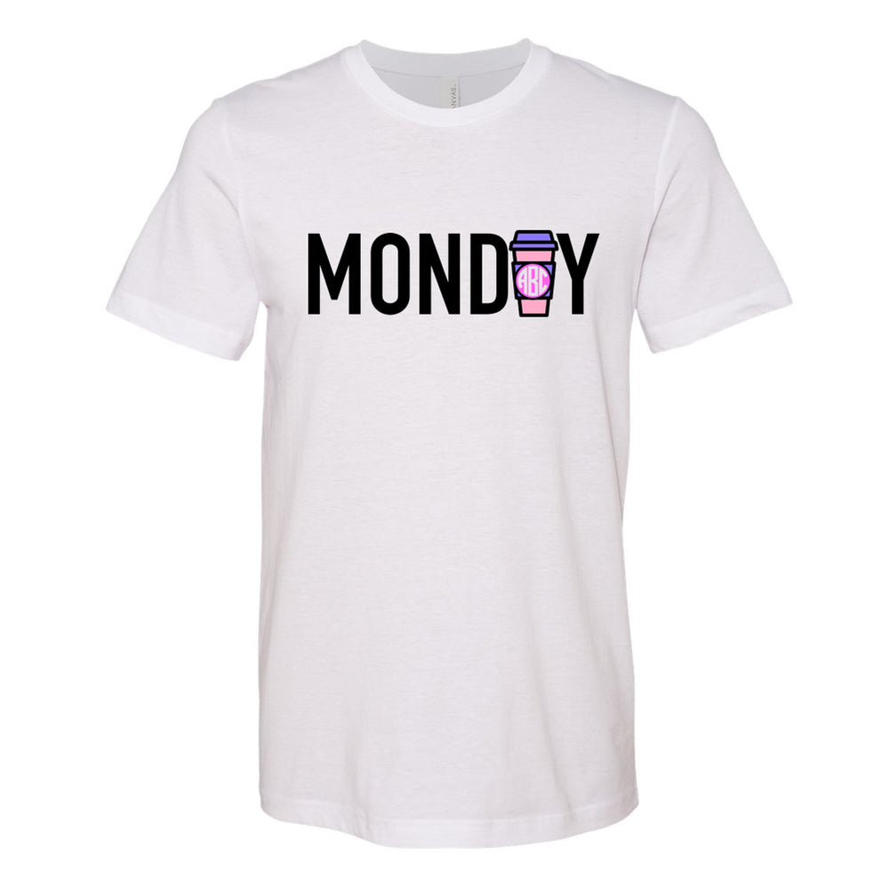 Monogrammed Coffee Monday Tee