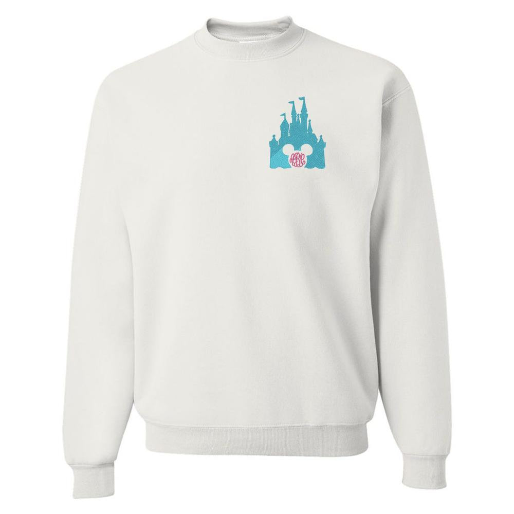 Monogrammed Disney Castle Embroidery Mickey Sweatshirt