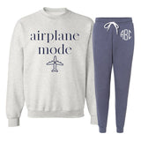Monogrammed Airplane Mode Lounge Set Airport Outfit