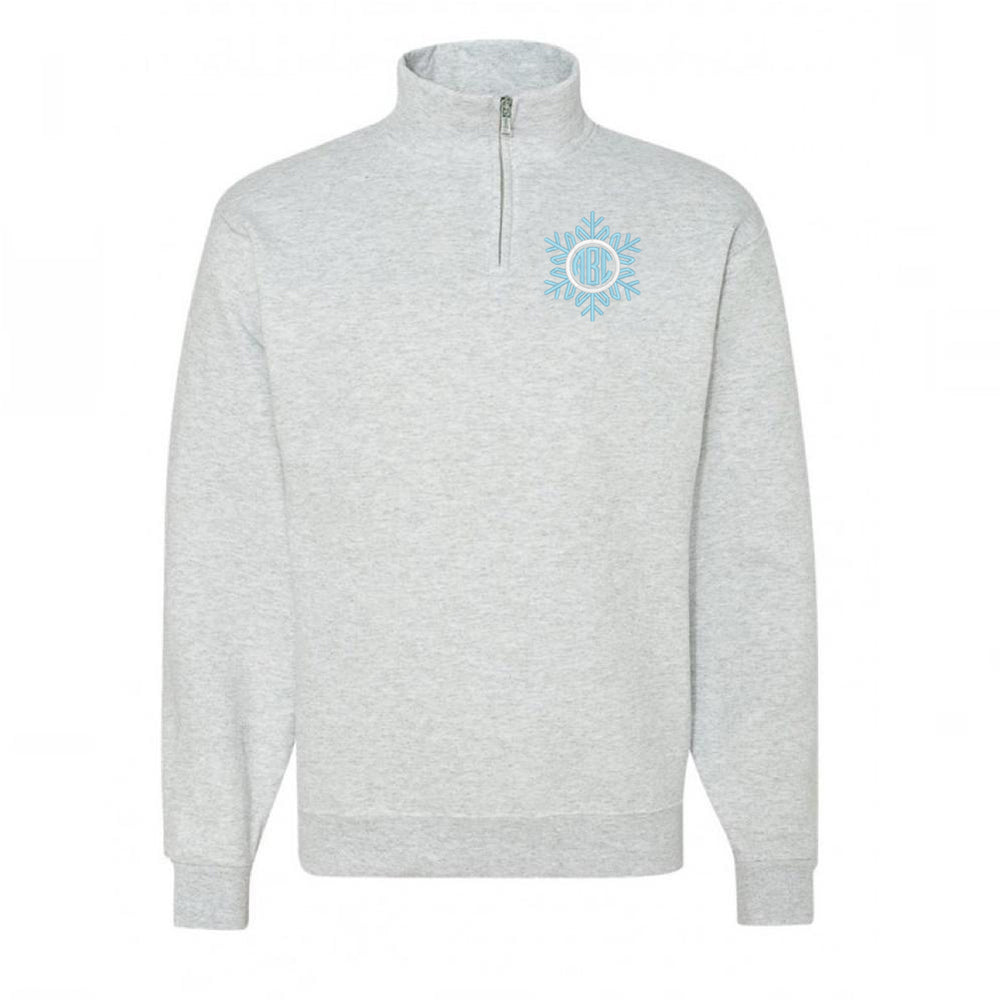 Monogrammed Snowflake Quarter Zip Pullover