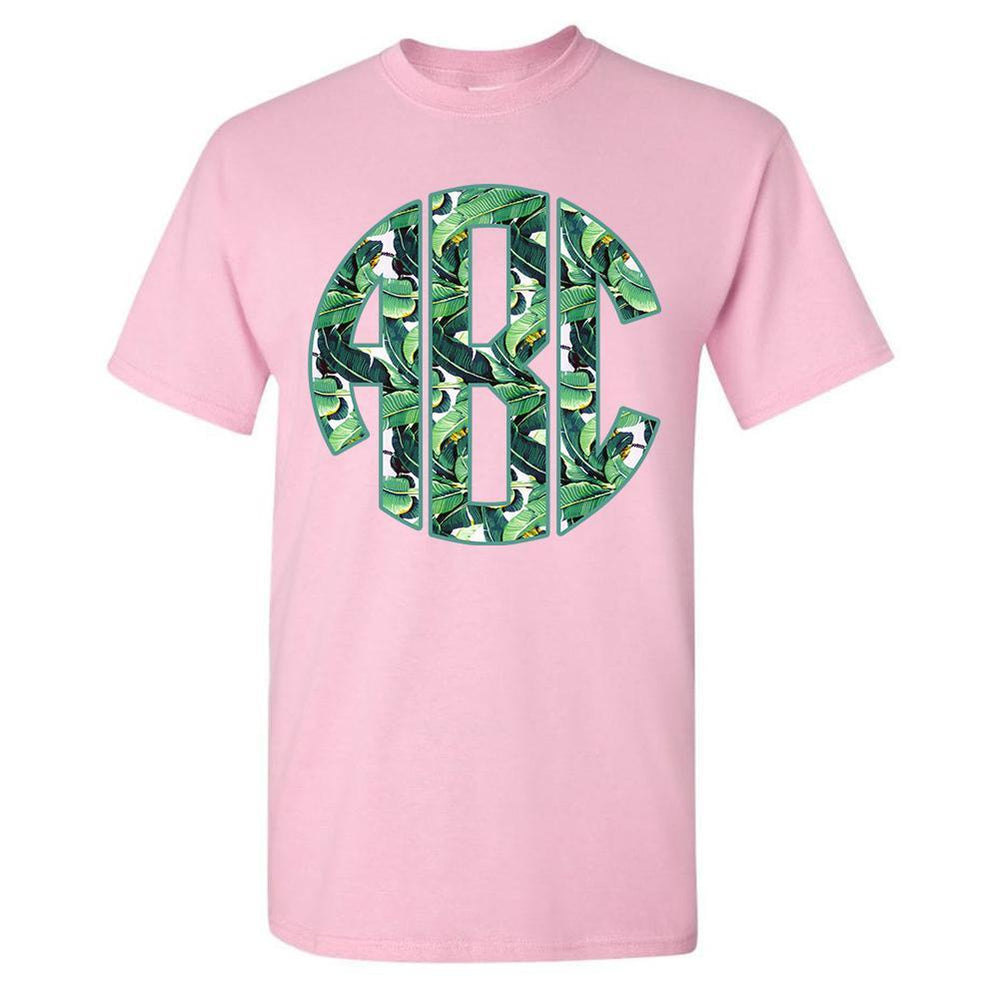 Pink Monogrammed T-Shirt Trendy