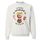 Monogrammed It's The Most Wonderful Time of Year Crewneck Sweatshirt Christmas Festive