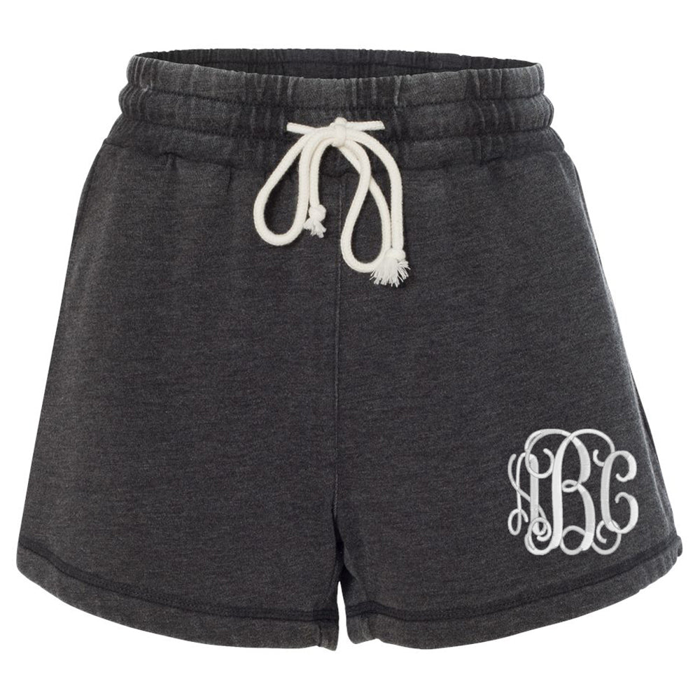 Monogrammed Sweat Lounge Shorts Fleece