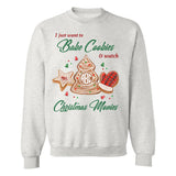 Monogrammed 'Bake Cookies & Christmas Movies' Crewneck Sweatshirt