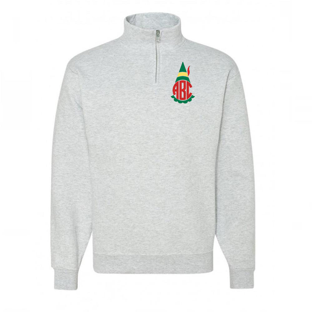 Monogrammed Elf Movie Quarter Zip Pullover