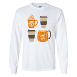 Monogrammed Happy Fall Coffee Long Sleeve Shirt