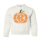 Kids Youth Monogrammed Pumpkin Crewneck Sweatshirt