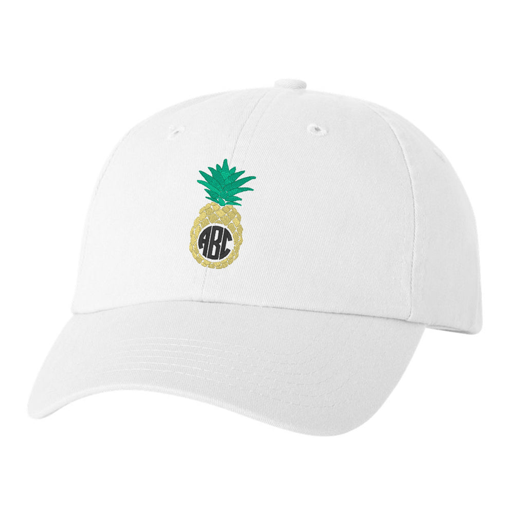 Monogrammed Pineapple Baseball Hat