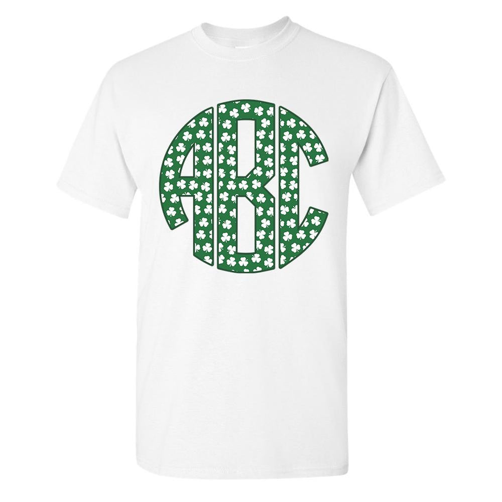 db226ad2 Monogrammed 'Shamrock Pattern' Big Print T-Shirt – United Monograms