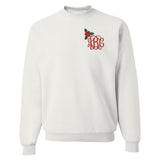 Monogrammed Holly Mistletoe Sweatshirt