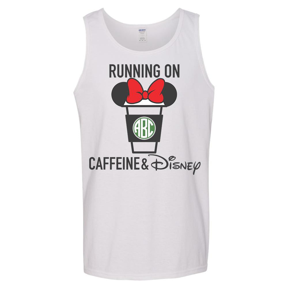 Monogrammed Running On Caffeine & Disney Tank Top