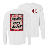 Monogrammed Fall Favorites Front & Back Comfort Colors Long Sleeve Shirt