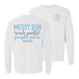Monogrammed Dentist Dental Hygienist Front & Back Long Sleeve Shirt