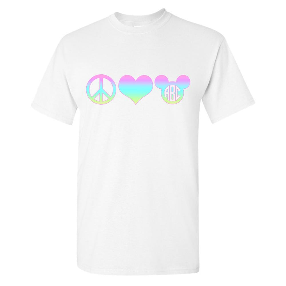 Monogrammed Peace Love Disney T-Shirt