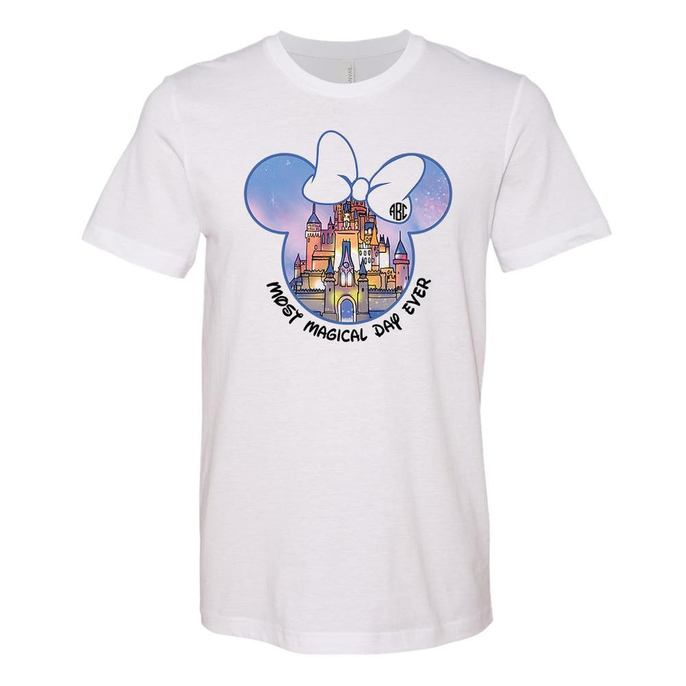 Monogrammed Disney Castle Magic Kingdom Most Magical Day Ever Tee