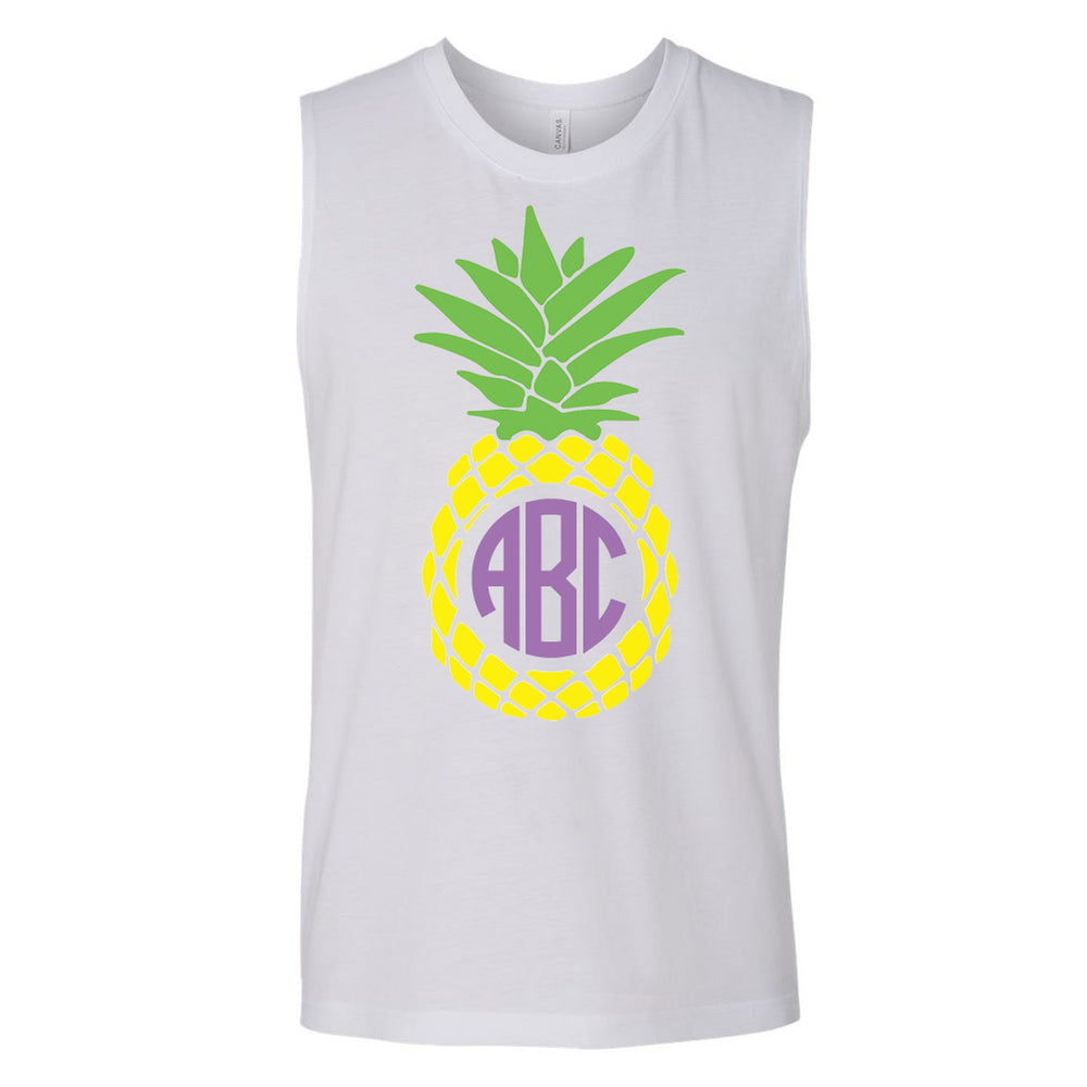 Pineapple Monogram Muscle Tank
